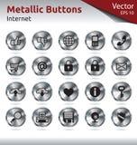 Metalliska knappar - multimedia royaltyfri bild