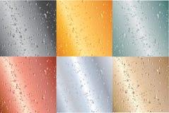 metalliska plattor för illustration Arkivfoto