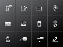 Metalliska symboler - kommunikation Arkivbild