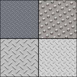 metalliska texturer för samling Stock Illustrationer
