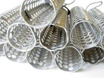 metalliskt övre för täta hårrullear Arkivbilder
