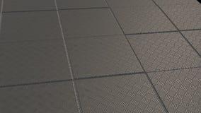 Metalliskt abstrakt begrepp skära i tärningar flyttning upp och ner stock illustrationer