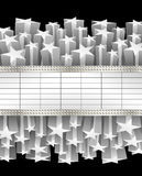 Metalliskt baner vektor illustrationer