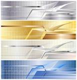 metalliskt baner royaltyfri illustrationer