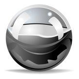 metalliskt blankt för boll Arkivbild