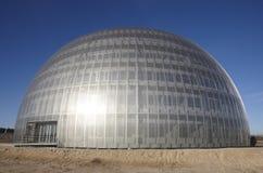 Metallisk byggnad under konstruktion Arkivfoton