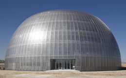 Metallisk byggnad under konstruktion Royaltyfria Foton