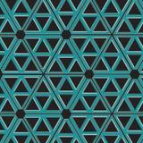 Metalliskt industriellt blått raster för sömlös modell Royaltyfri Foto