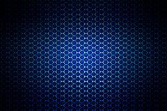 Metalliskt ingrepp för blå krom metallbakgrund och textur Arkivfoton