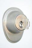 metalliskt key lås för dörr Arkivfoto