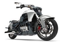 Metalliskt kritisera grå färger och försilvra den moderna kraftiga motorcykeln royaltyfri illustrationer