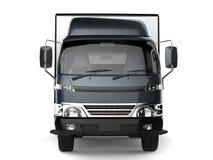 Metalliskt kritisera lastbilen för den lilla asken för grå färger - främre sikt royaltyfri illustrationer