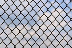 metalliskt netto för staket arkivbild