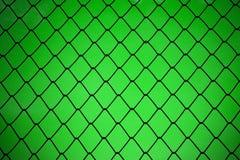 Metalliskt netto med grön bakgrund Royaltyfri Foto