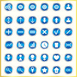 Metallized icons Stock Photo