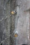 Metallkette und -vorhängeschloß Lizenzfreie Stockbilder