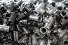 Metallklempnerarbeitellbogen Stockfotos