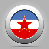 Metallknapp med flaggan av Jugoslavien Royaltyfri Foto