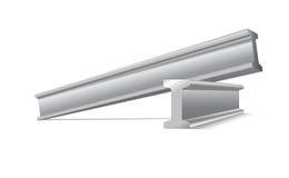 Metallkonstruktionsstrålar Royaltyfri Fotografi