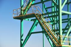 Metallkontrollturmnahaufnahme lizenzfreie stockfotos
