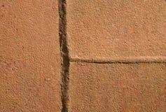 Metallkorrosion Orange leichte Struktur der Oxidation auf Schweißnaht stockfoto