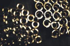 Metallkreis in Form Stockbilder