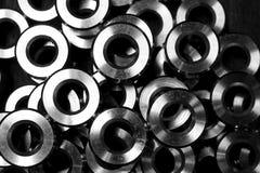 Metallkreis in Form Stockbild