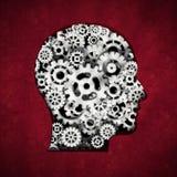 Metallkuggar som bildar head form illustration 3d Royaltyfri Fotografi