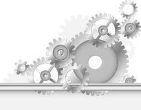 Metallkugghjul vektor illustrationer