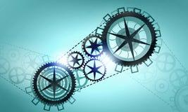 Metallkugghjul och kugghjul Royaltyfri Bild