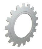 Metallkugghjul som isoleras på vit bakgrund Royaltyfri Fotografi