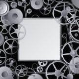 Metallkugghjuldesign Arkivbild