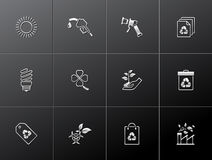 Metalllic Icons - More Environment Stock Image