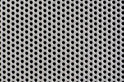 Metalllochhintergrund Stockbild