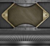 Metallmässingstextur Arkivbild