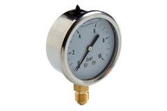 Metallmanometer-Wasserleitungspipe-verbindung Ventil, plombierend lizenzfreie stockfotos