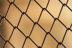 Metallmaschen-Drahtzaun stockbilder