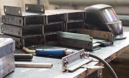 Metallmellanrum i företaget Arkivfoton