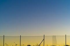 Metallnetz bei Sonnenuntergang Lizenzfreie Stockfotografie