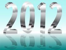 Metallneues Jahr Lizenzfreie Stockbilder
