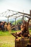 Metallo abbandonato distilleria vecchio fotografia stock