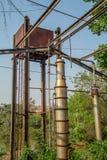Metallo abbandonato distilleria vecchio fotografia stock libera da diritti