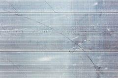 Metallo, acciaio inossidabile o fondo di struttura dell'alluminio con scrat Fotografie Stock Libere da Diritti