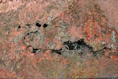 Metallo arancio arrugginito e stagionato Immagine Stock