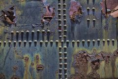 Metallo arrugginito Fotografie Stock