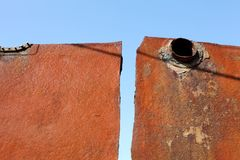 Metallo arrugginito Fotografia Stock Libera da Diritti