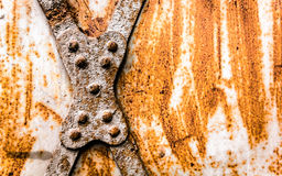 Metallo arrugginito Fotografia Stock