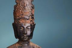 Metallo arrugginito buddha Fotografie Stock Libere da Diritti