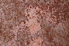 Metallo arrugginito con il fondo incrinato di lerciume della pittura Fotografia Stock