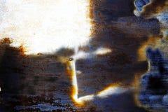 Metallo arrugginito con vecchia pittura incrinata Fotografia Stock Libera da Diritti